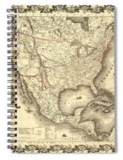 Antique North America Map Spiral Notebook