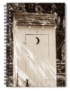 Antique Outhouse Spiral Notebook