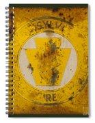 Antique Metal Pennsylvania Forest Fire Warden Sign Spiral Notebook