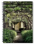 Antique Pergola Arbor Spiral Notebook