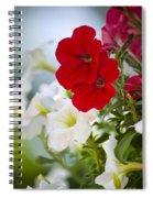 Antique Petunia Flowers Spiral Notebook