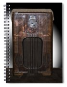 Antique Philco Radio Model 37 116 Merged V Spiral Notebook