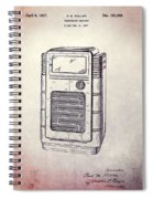 Antique Phonograph Cabinet Patent Spiral Notebook
