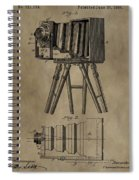 Antique Photographic Camera Patent Spiral Notebook
