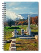 Antique Pillars And Power Plant Megalopoli Greece Spiral Notebook
