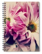 Antique Pink And White Daisies Spiral Notebook