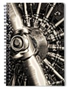 Antique Plane Engine Spiral Notebook