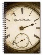 Antique Pocket Watch Spiral Notebook