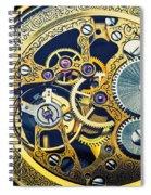 Antique Pocket Watch Gears Spiral Notebook