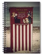 Antique Punch And Judy Spiral Notebook