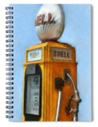 Antique Shell Gas Pump Spiral Notebook