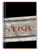 Antique Sign Spiral Notebook