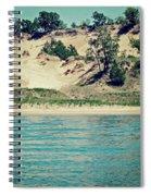 Antique Snapshot Series - Dunes On Lake Michigan Spiral Notebook