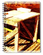 Antique Splitting Table 2 Spiral Notebook