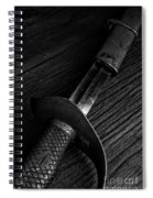 Antique Sword Black And White Spiral Notebook