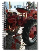 Antique Tractor Hiding In The Shadows Spiral Notebook