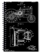 Antique Tractor Patent Spiral Notebook