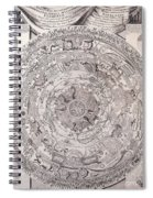 Antique Vintage Map With Elements Beautiful Spiral Notebook