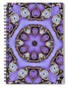 Antique Watch Kaleidoscope Spiral Notebook