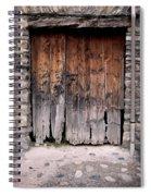 Antique Wood Door Damaged Spiral Notebook