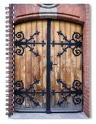 Antique Wooden Door Spiral Notebook