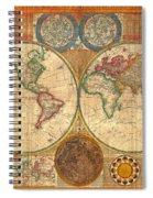 Antique World Map In Hemispheres 1794 Spiral Notebook