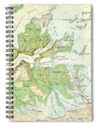 Antique Yosemite National Park Map Spiral Notebook