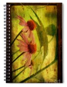 Antiqued Cone Flowers Spiral Notebook