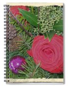Antiqued Rose Bouquet  Spiral Notebook