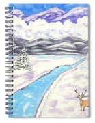Antlers And Snow Spiral Notebook