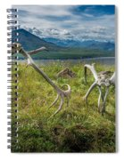Antlers On The Hill Spiral Notebook