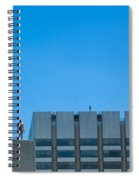 Antony Gormley Sculpture On London Rooftops  Spiral Notebook