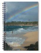 Anuenue - Aloha Mai E Hookipa Beach Maui Hawaii Spiral Notebook