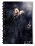 Anxious Australian Sas Soldier On Night Watch Spiral Notebook