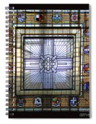Anzac Day 2014 Auckland War Memorial Museum Stained Glass Roof Spiral Notebook