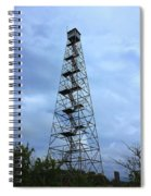 Apalachee Fire Tower In Morgan County Spiral Notebook