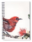 Apapane - Native Hawaiian Bird Spiral Notebook