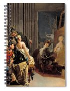 Apelles Painting The Portrait Of Campaspe Spiral Notebook