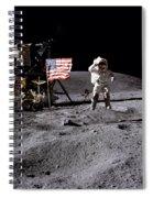 Apollo 16 Lunar Landing Astronaut Young Spiral Notebook
