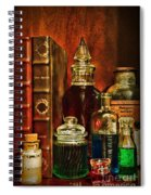 Apothecary - Vintage Jars And Potions Spiral Notebook