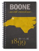 Appalachian State University Mountaineers Boone Nc College Town State Map Poster Series No 010 Spiral Notebook