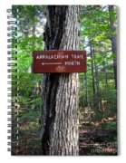 Appalachian Trail Sign North Spiral Notebook