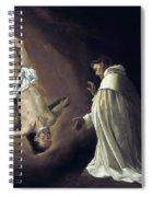 Apparition Of Apostle Saint Peter To Saint Peter Nolasco Spiral Notebook