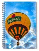 Appelbee's Hot Air Balloon Spiral Notebook