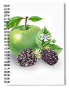 Apple And Blackberries Spiral Notebook