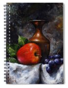 Apple And Grapes Spiral Notebook