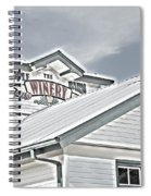 Apple Barn Winery Sign In Grayscale Spiral Notebook