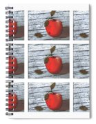 Apple Collage Spiral Notebook