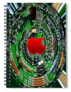 Apple Computer Abstract  Spiral Notebook