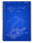Apple Mouse Patent 1984 - Blue Spiral Notebook